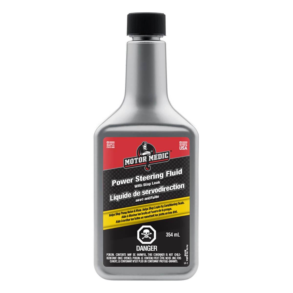 Motor Medic Power Steering Fluid w/Stop Leak - 354ml