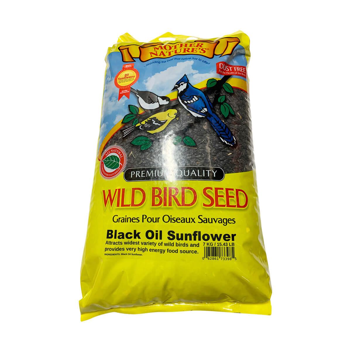 Black Oil Sunflower Seed for Bird Feeding - 7 kg