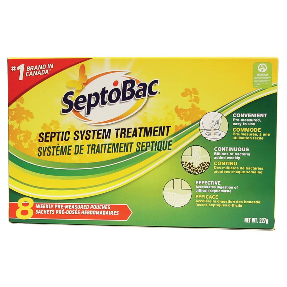 Septobac Septic Tank Treatment - 8 Pack