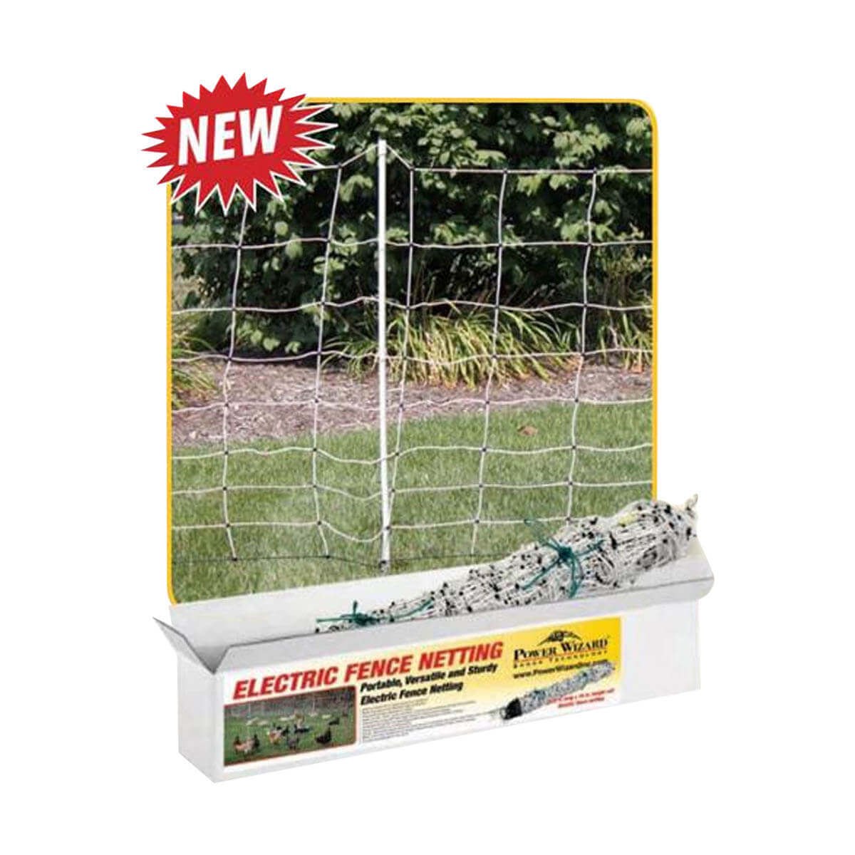 Power Wizard Electric Fence Netting - 120' L x 34' H
