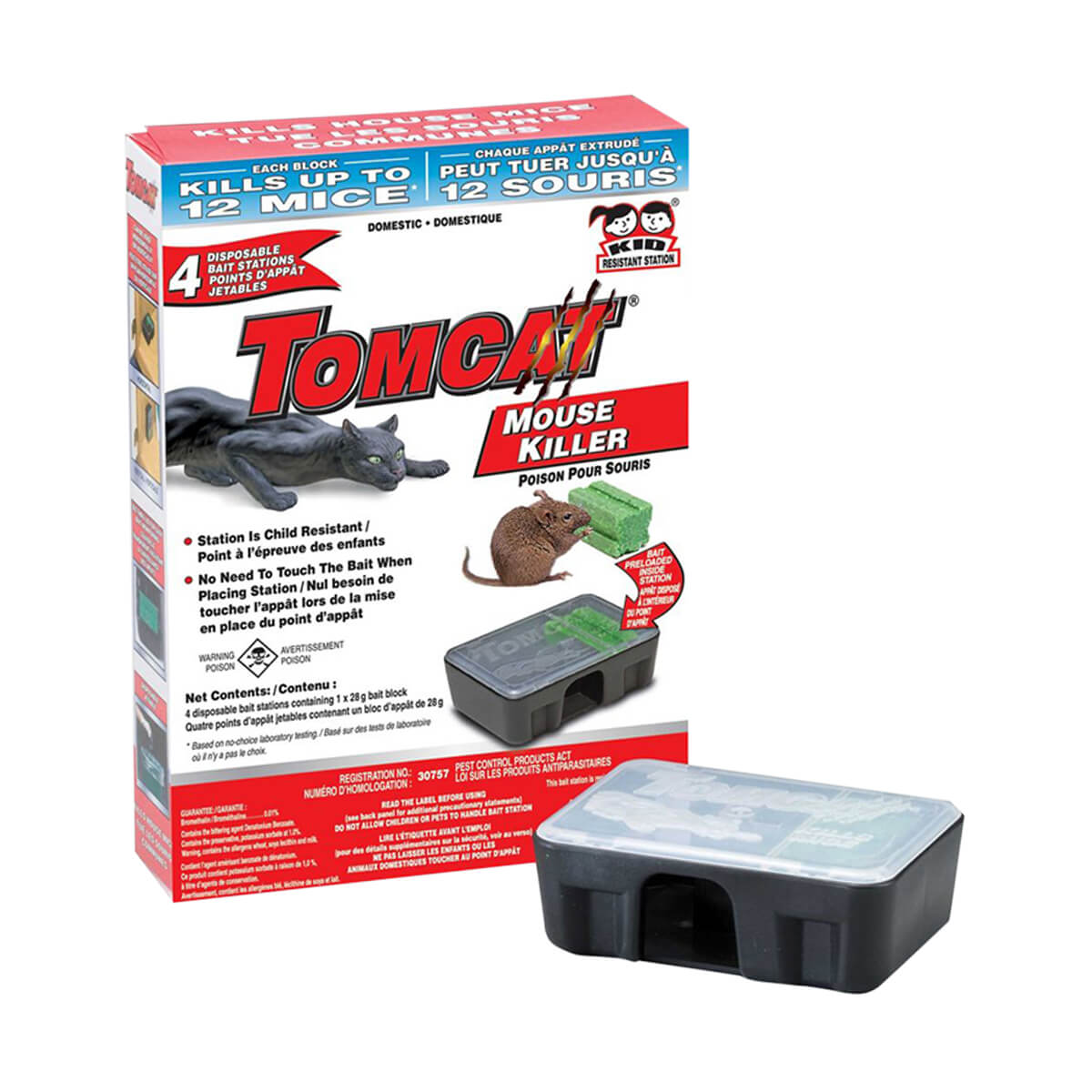Tomcat Mouse Bait Station Domestic - 4pack