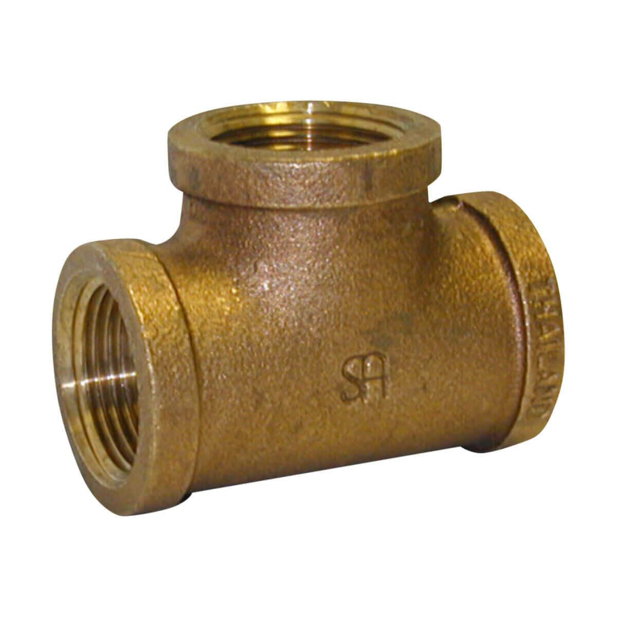 Cast Bronze Tee - 3/4-in