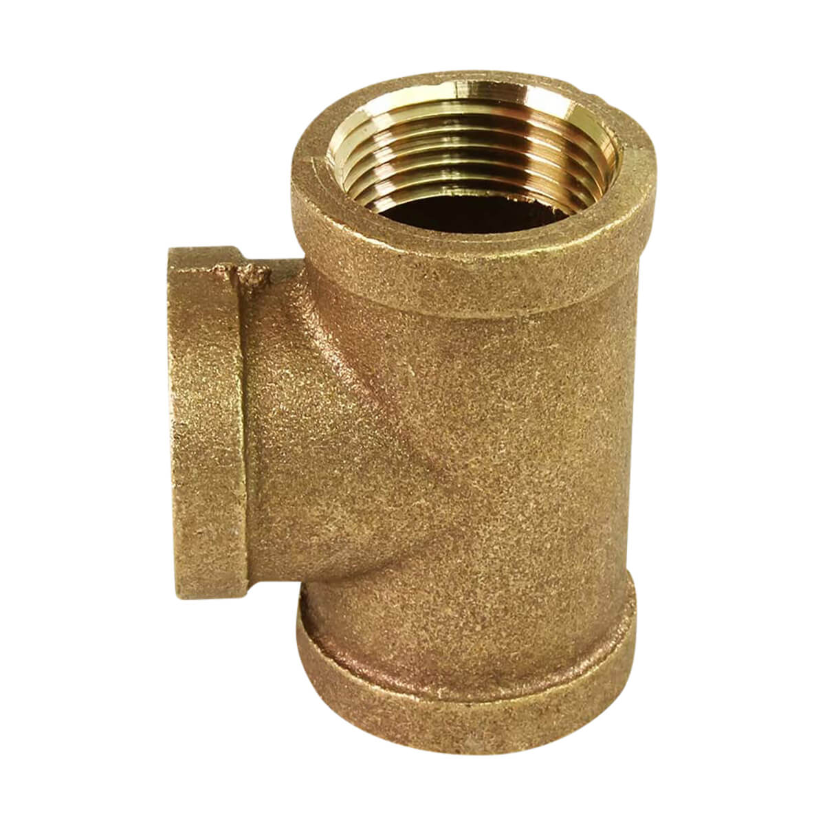 Brass Tee Coupling - 1-1/4-in
