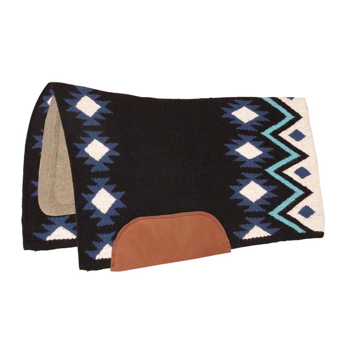 Aztec Contoured Saddle Pad W/ Wool Bottom