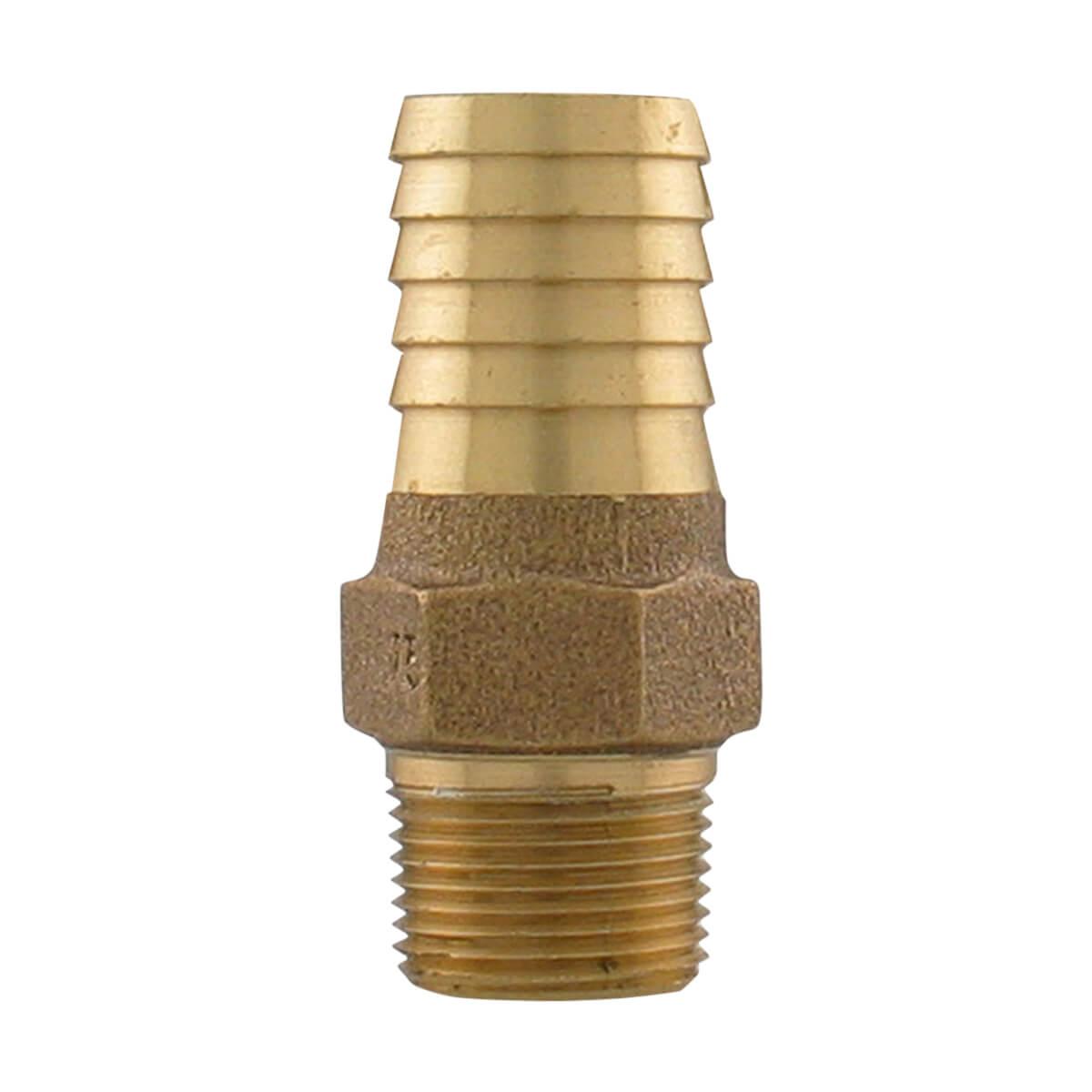 "Bronze Male Adapter - 3/4"" MIP x 1"" INS"