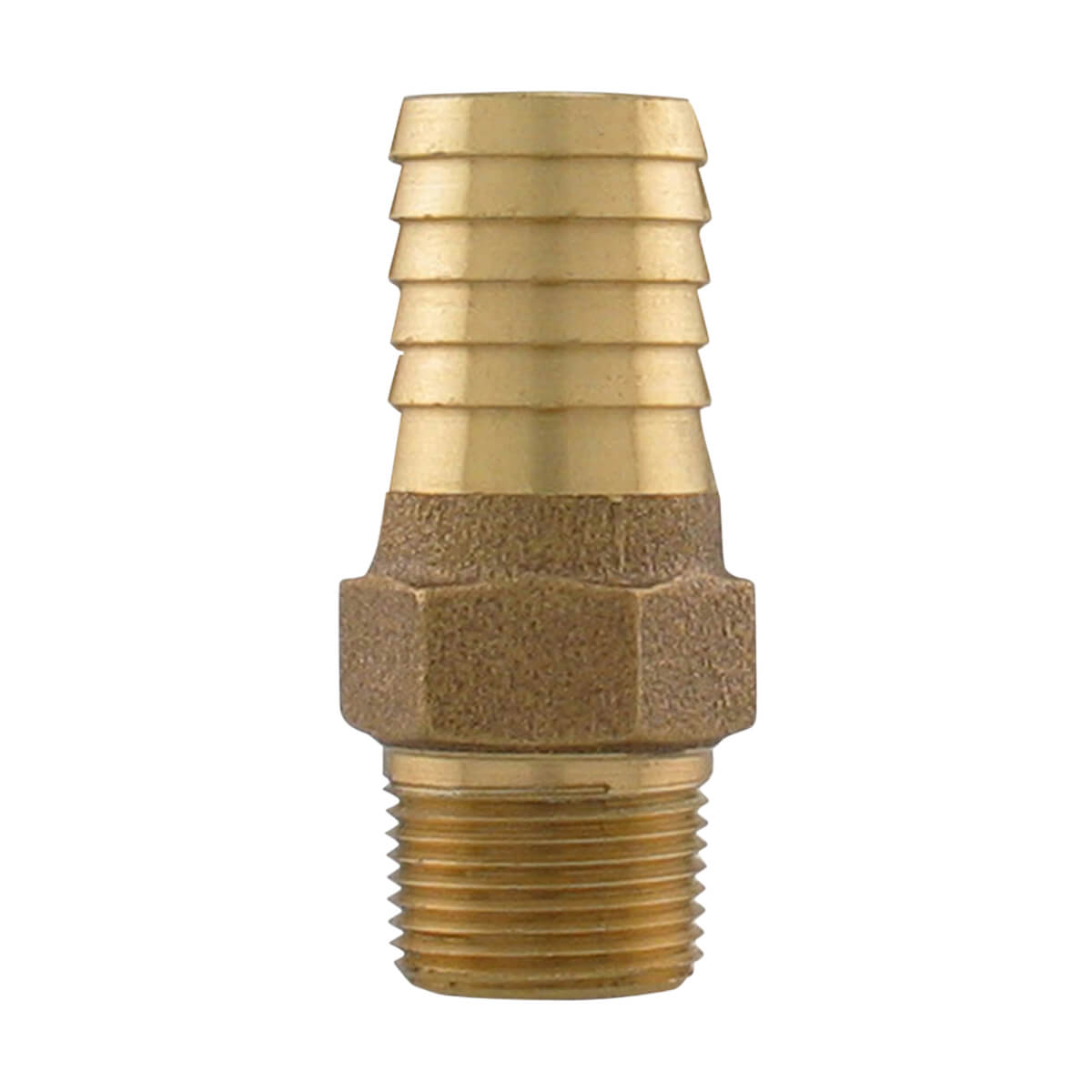 Bronze Male Adapter - 1-in MIP x 1-1/4-in INS
