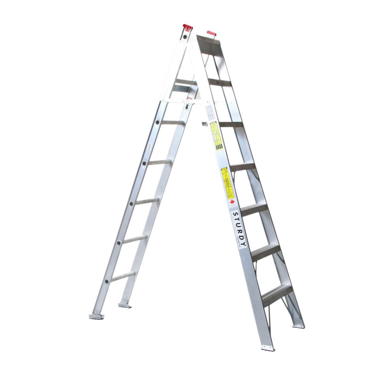 Aluminum Multiway Ladder - 7-ft
