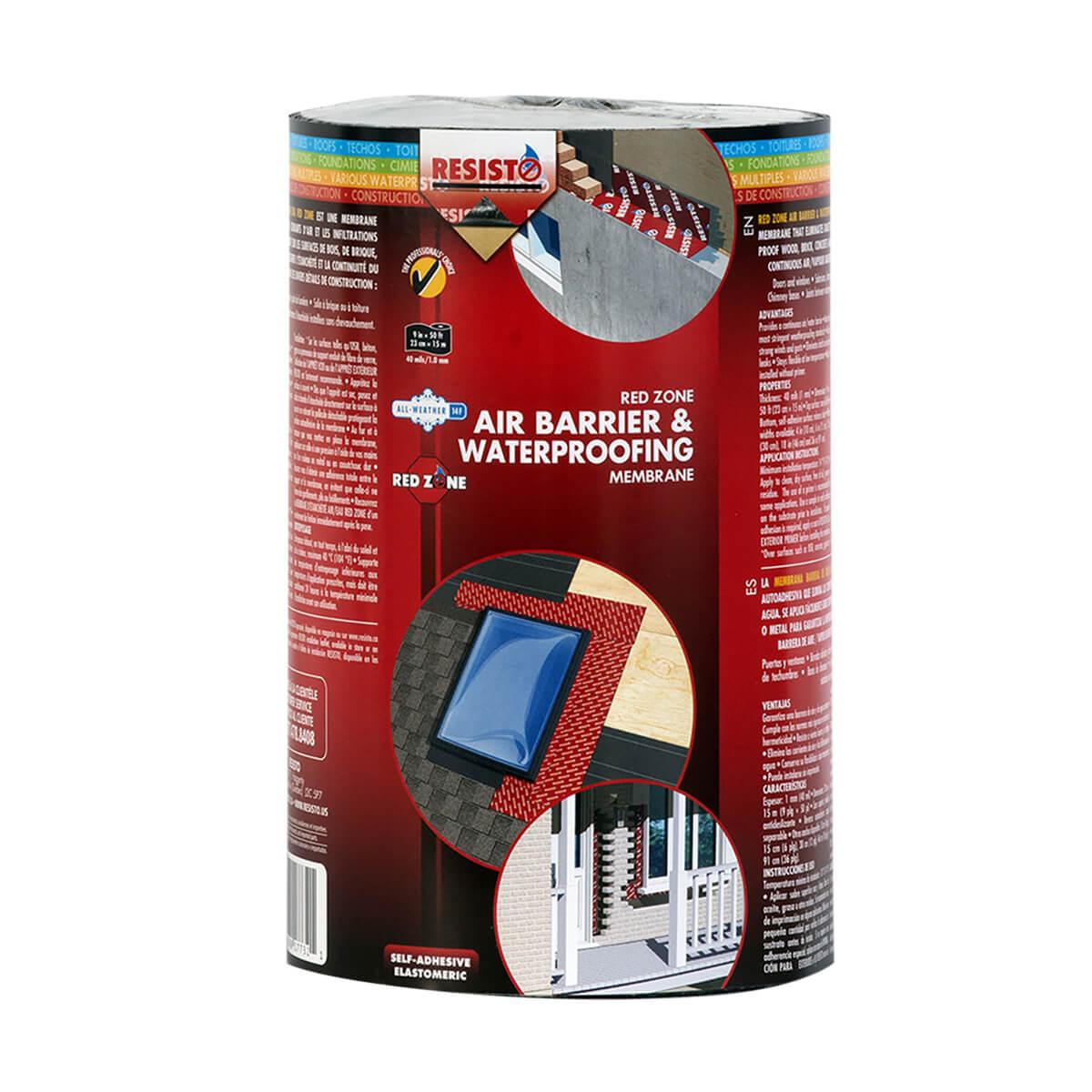 "Redzone Air Barrier & Waterproofing Membrane - 9"" x 50'"