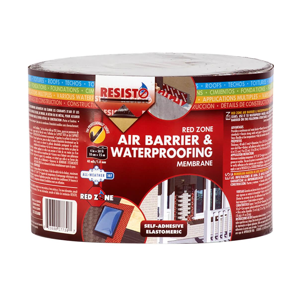 "Redzone Air Barrier & Waterproofing Membrane - 4"" x 50'"