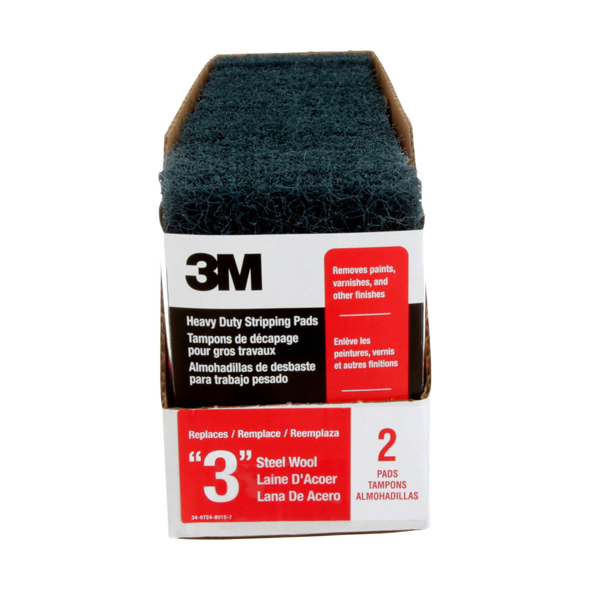3M Heavy Duty Stripping Pad 10111NA - 2 pack