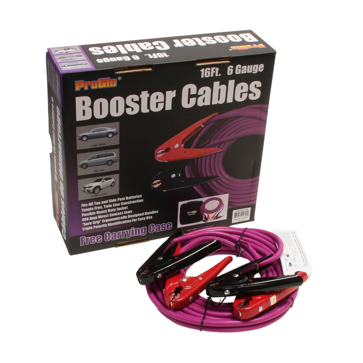 16' Pro Glo® Booster Cables, 6 Ga. w/Case