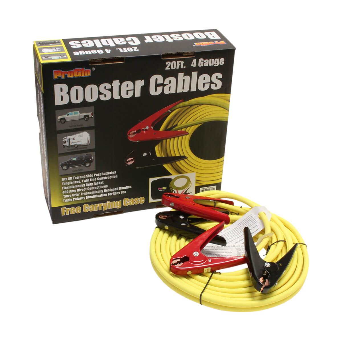 20' Pro Glo® Booster Cables, 4 Ga. w/Case