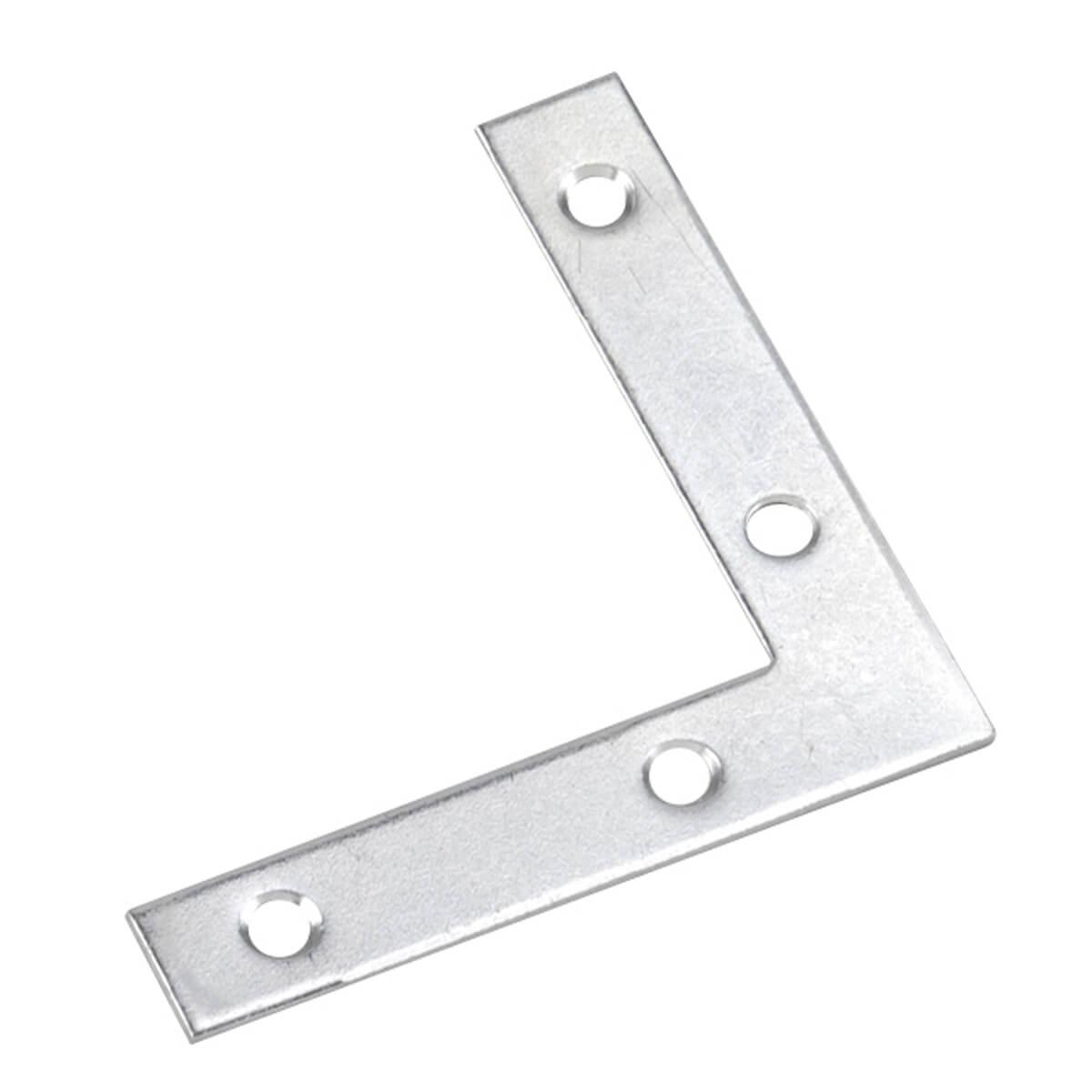 "Flat Corner Brace - 4"" x 3/4"""