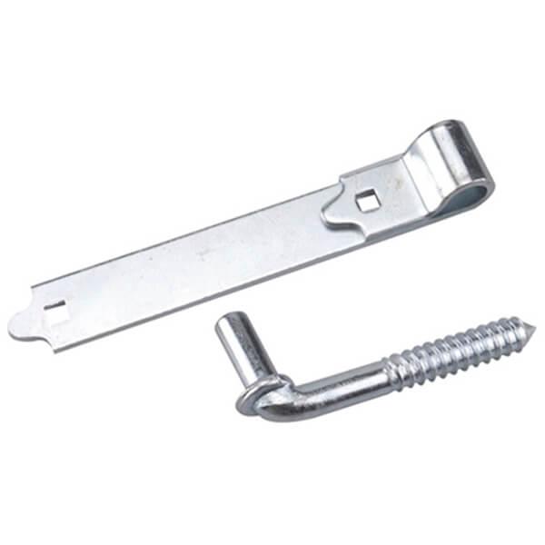 "Screw Hook with Strap Hinge  - 8"""