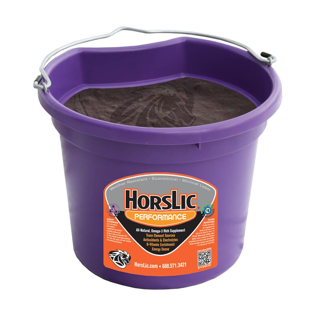 HorsLic® Performance Tubs  -Flat Back Tub - 40 lb