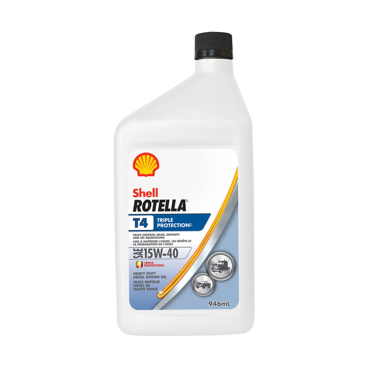 Shell Rotella T4 Triple Protection 15W-40 - 946 ml