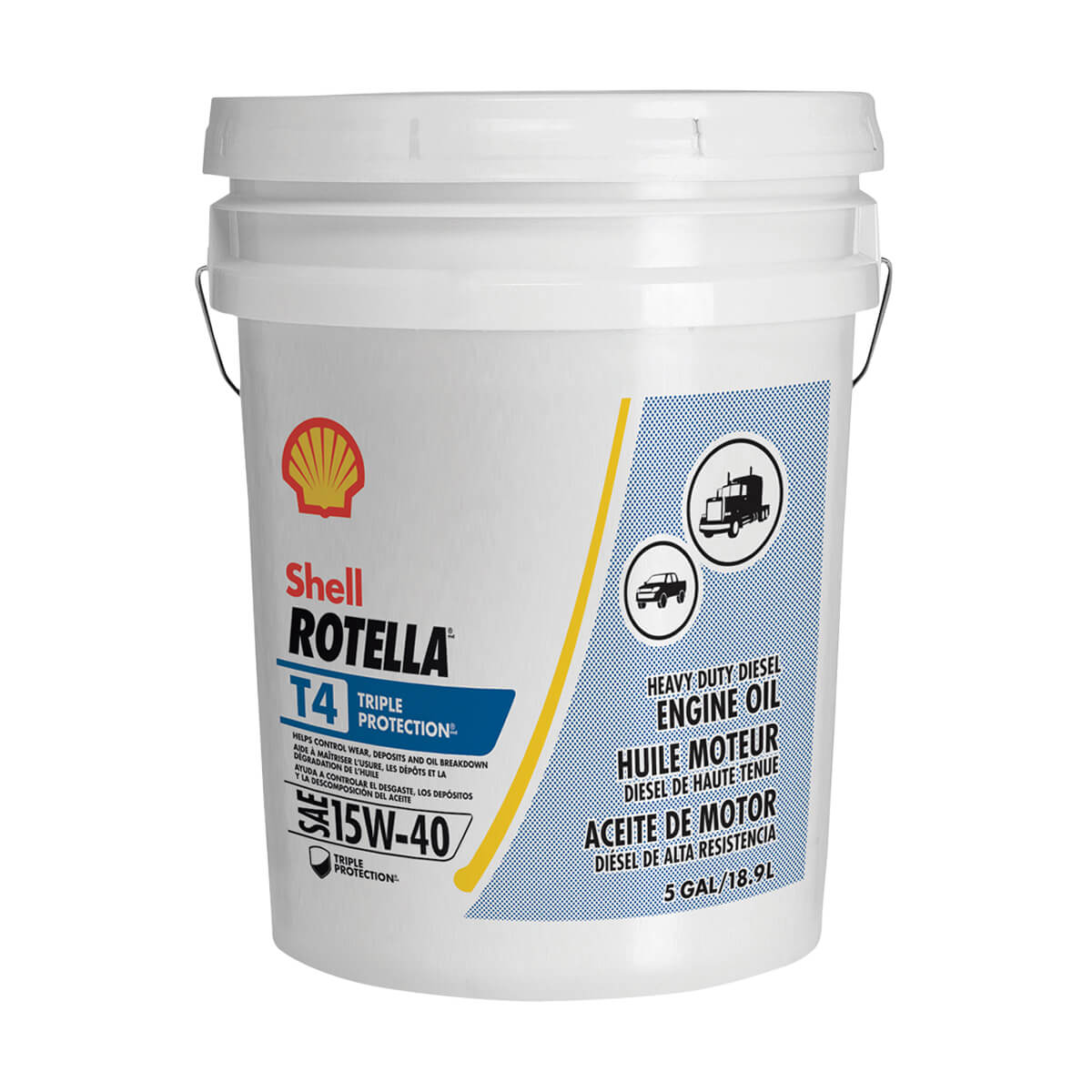 Shell Rotella T4 Triple Protection 15W-40 - 18.9 L