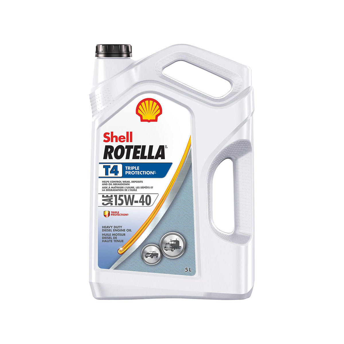 Shell Rotella T4 Triple Protection 15W-40 - 5 L