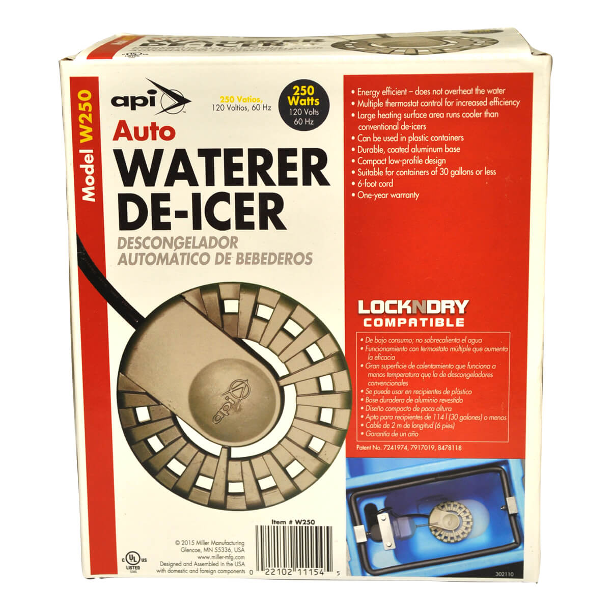 Auto Waterer De-Icer - 250W - 120V