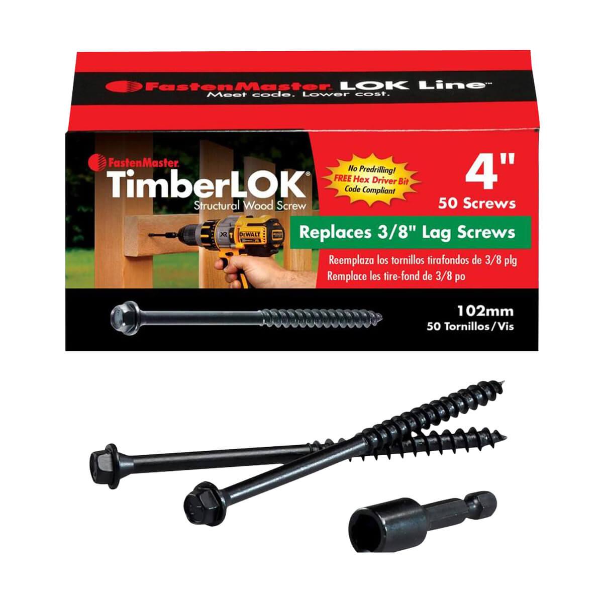 Fastenmaster - 4-in - Timberlok Screws - 50  Pack