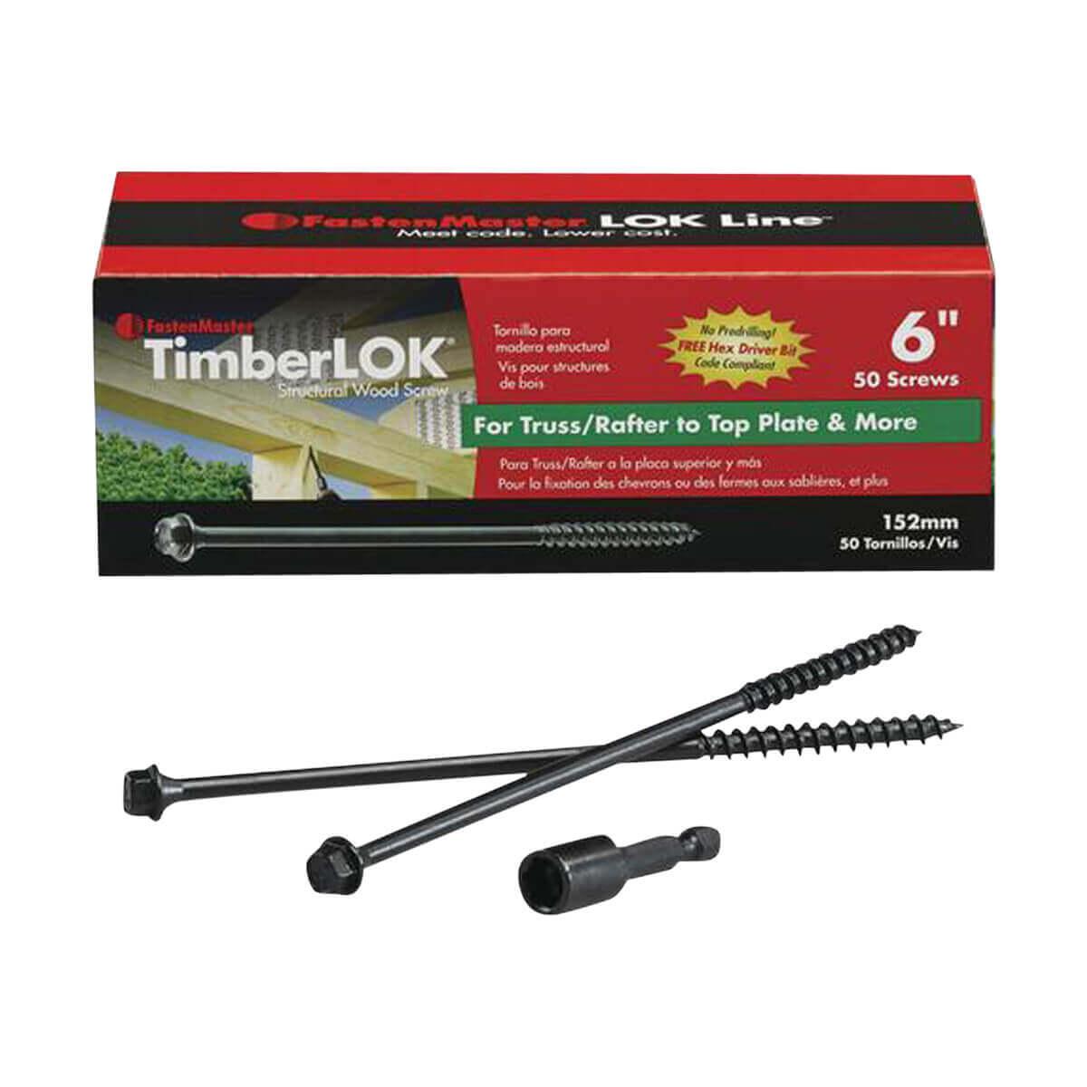 Fastenmaster 6-in Timberlok Screws - 50 Pack