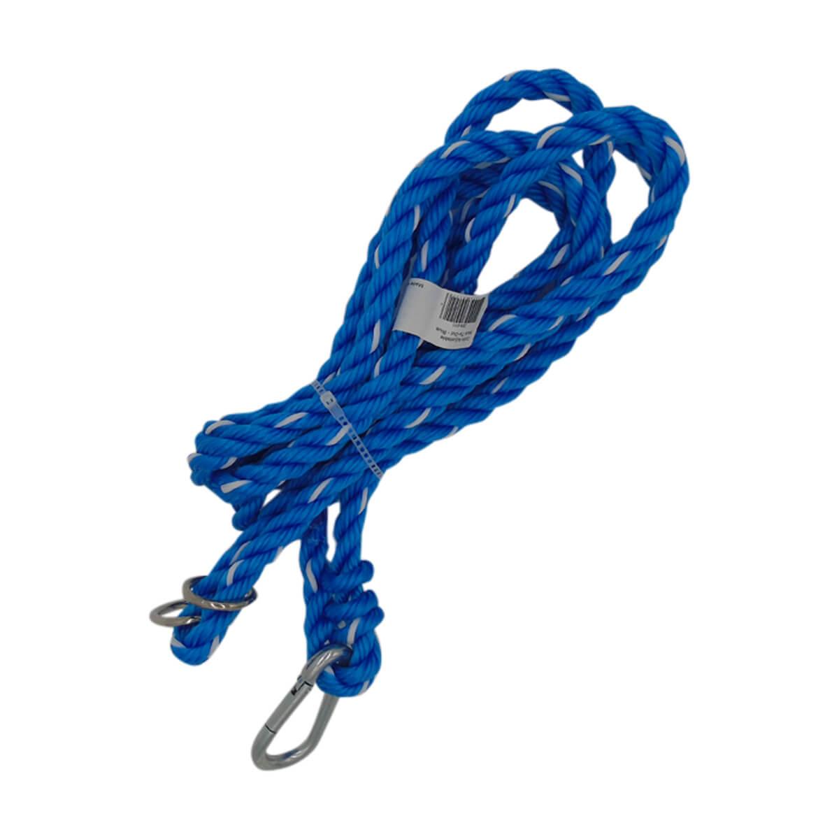 Adjustable Rope Halter Tie-Out - Blue