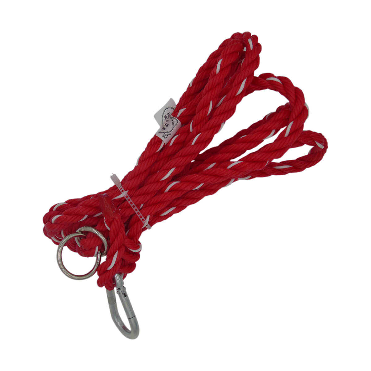 Adjustable Rope Halter Tie-Out - Red