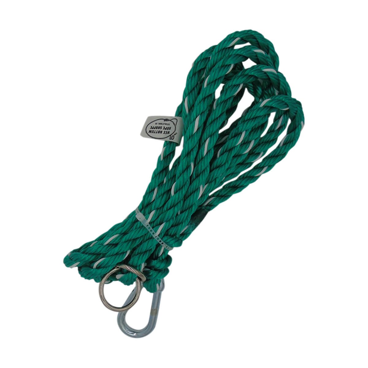 Adjustable Rope Halter Tie-Out - Green