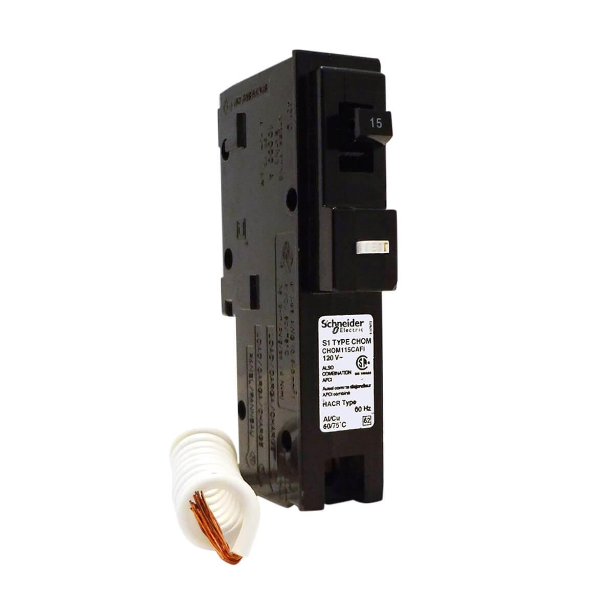15A Single Pole Combination Pigtail Circuit Breaker