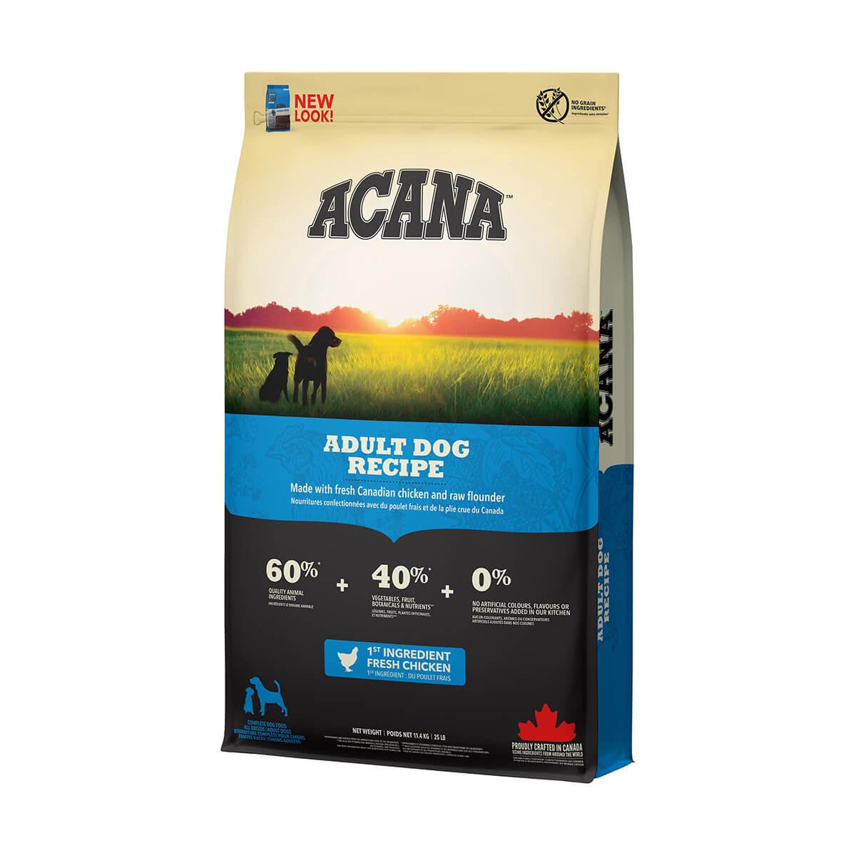 ACANA ADULT DOG FOOD - 11.4 KG