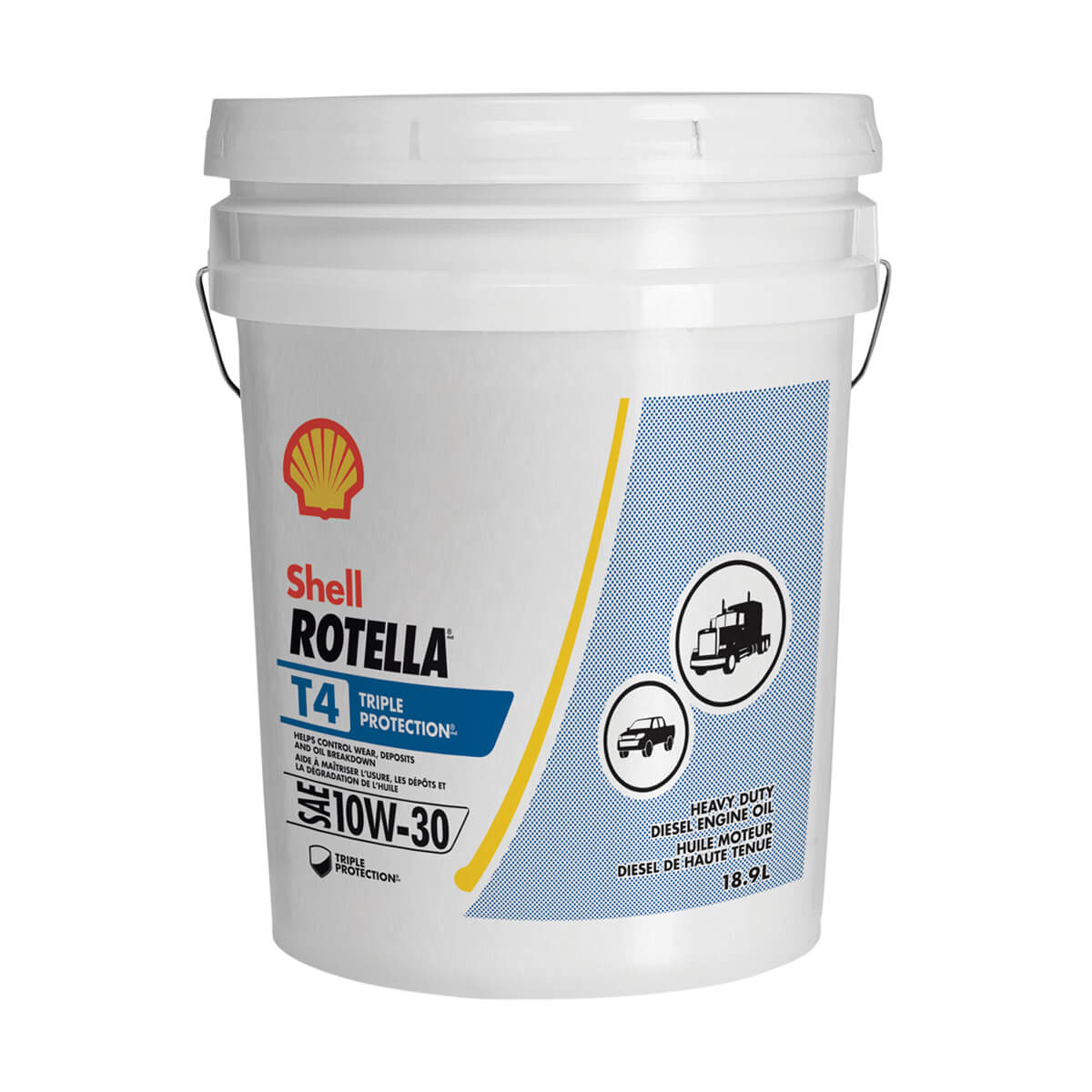 Shell Rotella T4 Triple Protection 10W-30 - 18.9L