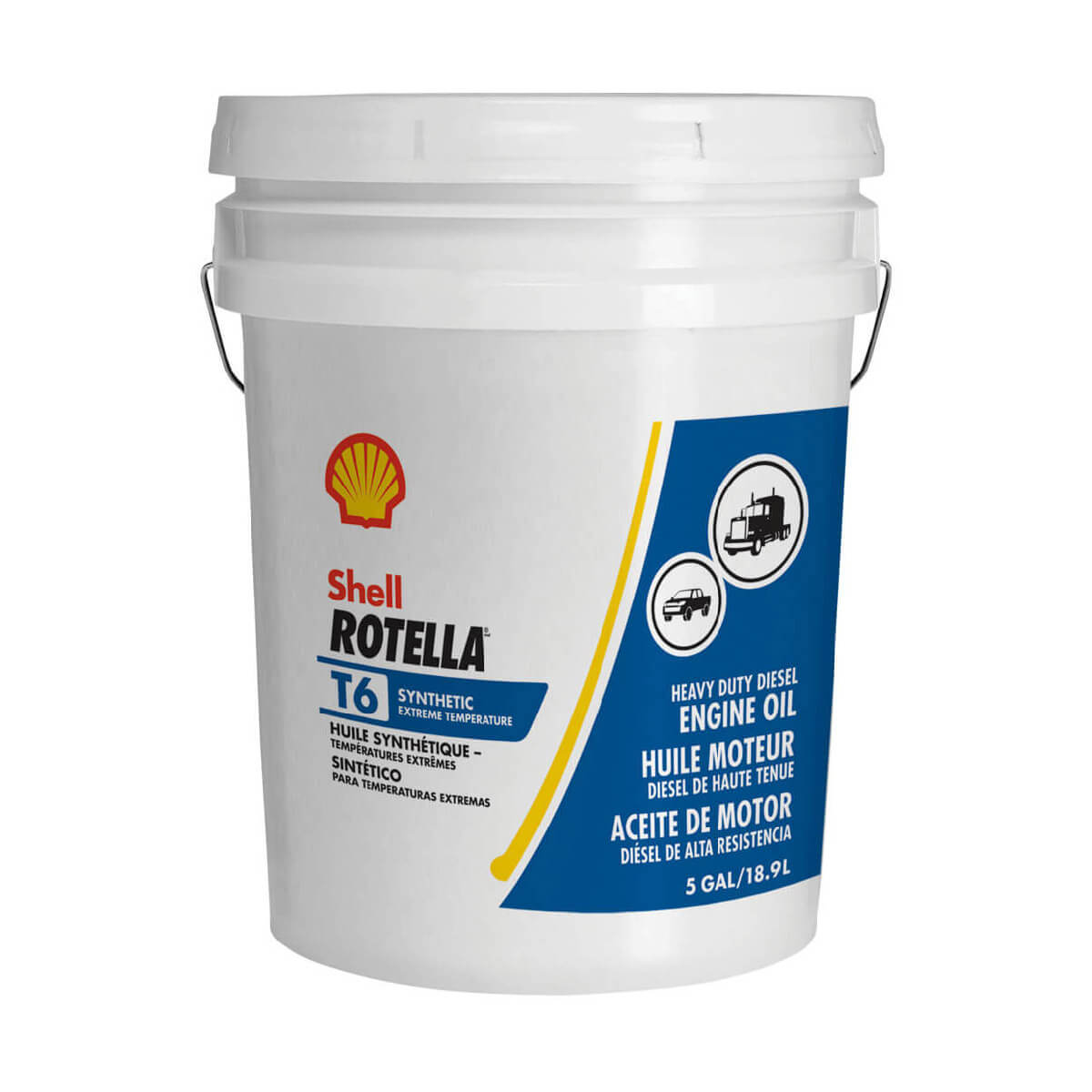 Shell Rotella T6 Triple Protection Synthetic 5W-40 - 18.9 L