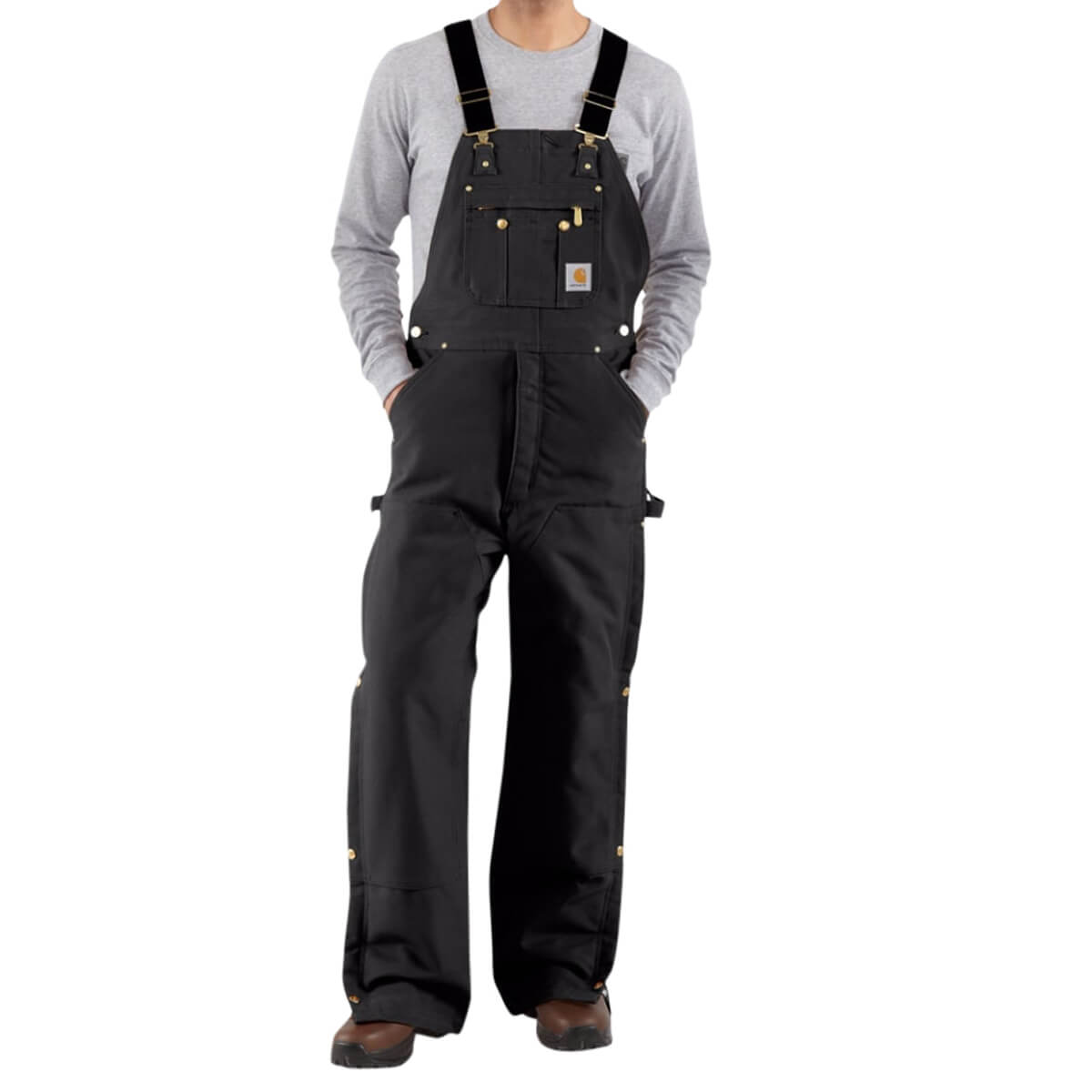 Carhartt Black Duck Zip-To-Thigh Bib Overall/Quilt Lined