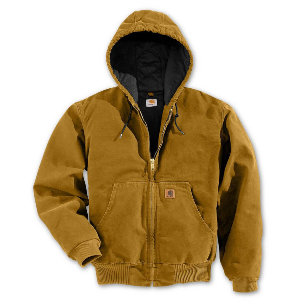 Carhartt Brown Quilted Flannel Lined Sandstone Active Jacket