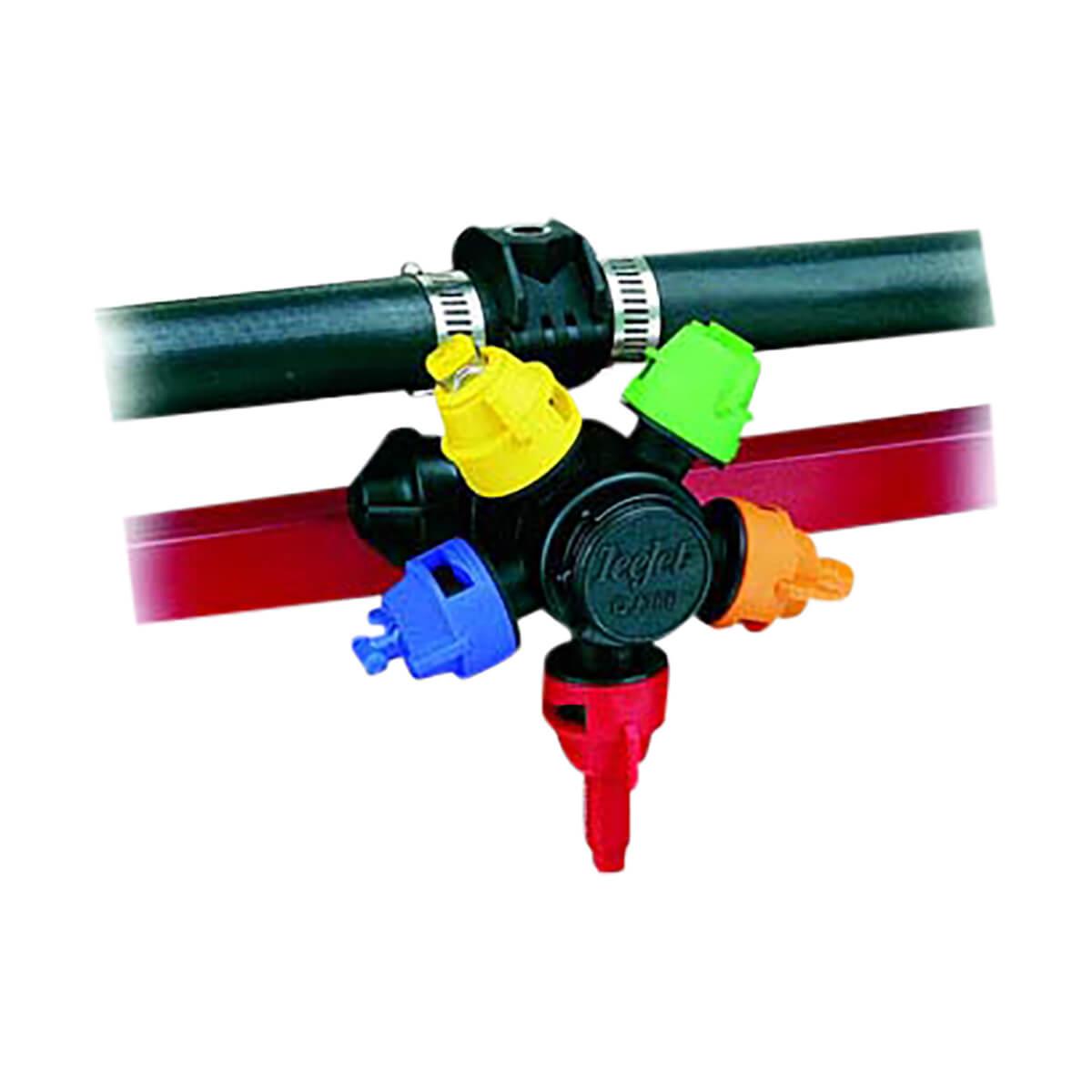 "Quick Teejet Nozzle Body for Wet Booms, 5 Nozzles - 3/4"""