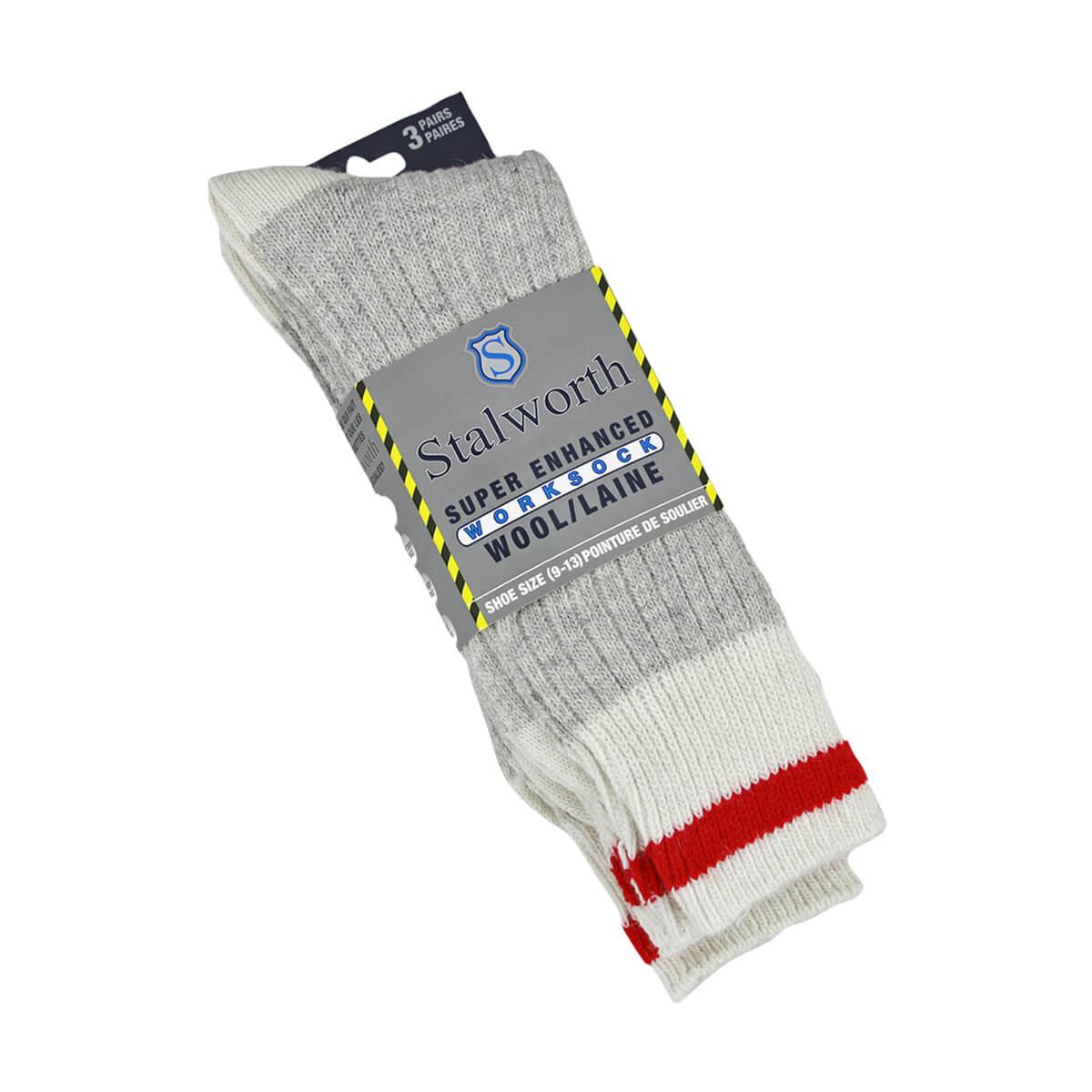 Stalworth Wool Work Socks - 3 Pack