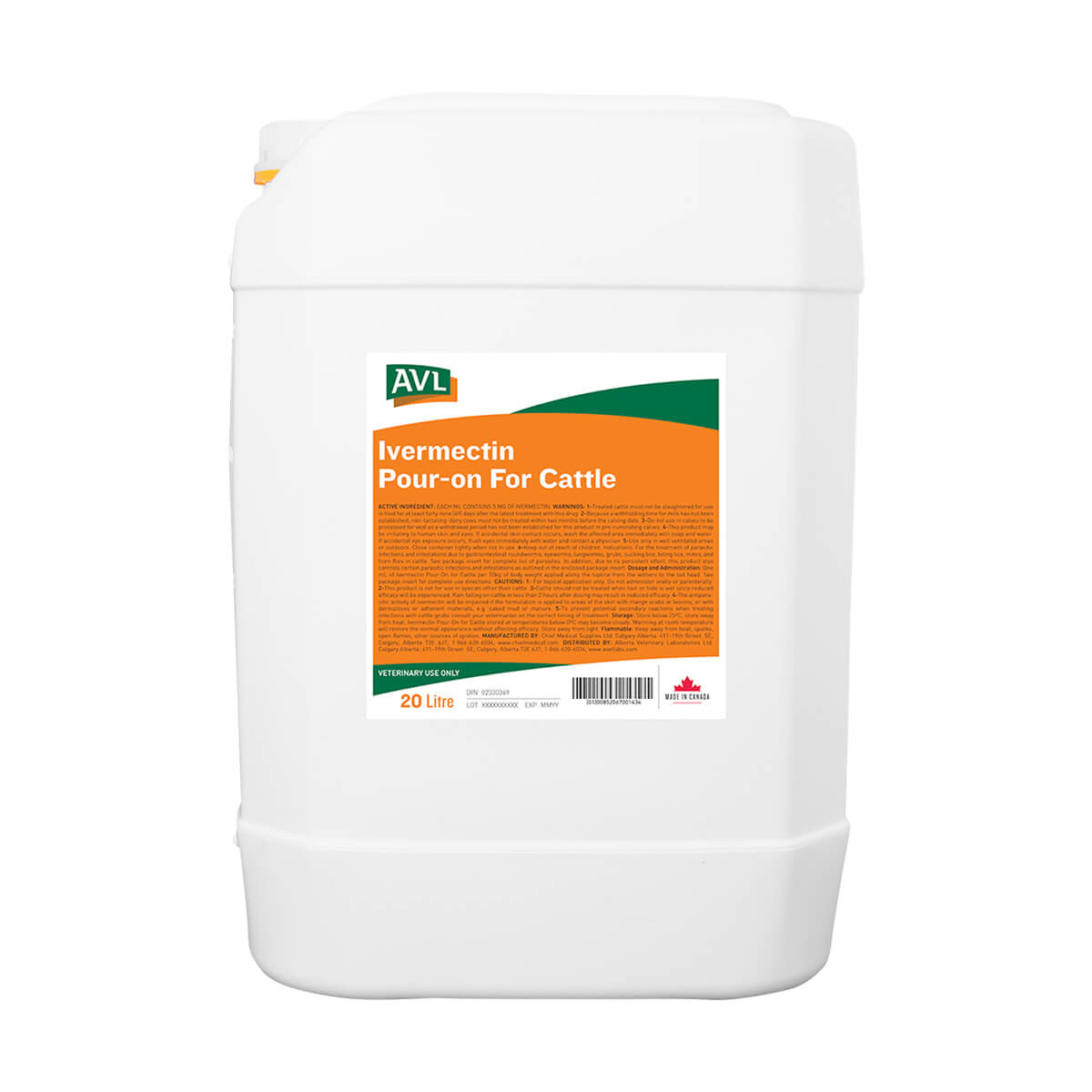 AVL Ivermectin Pour-on For Cattle - 20 L