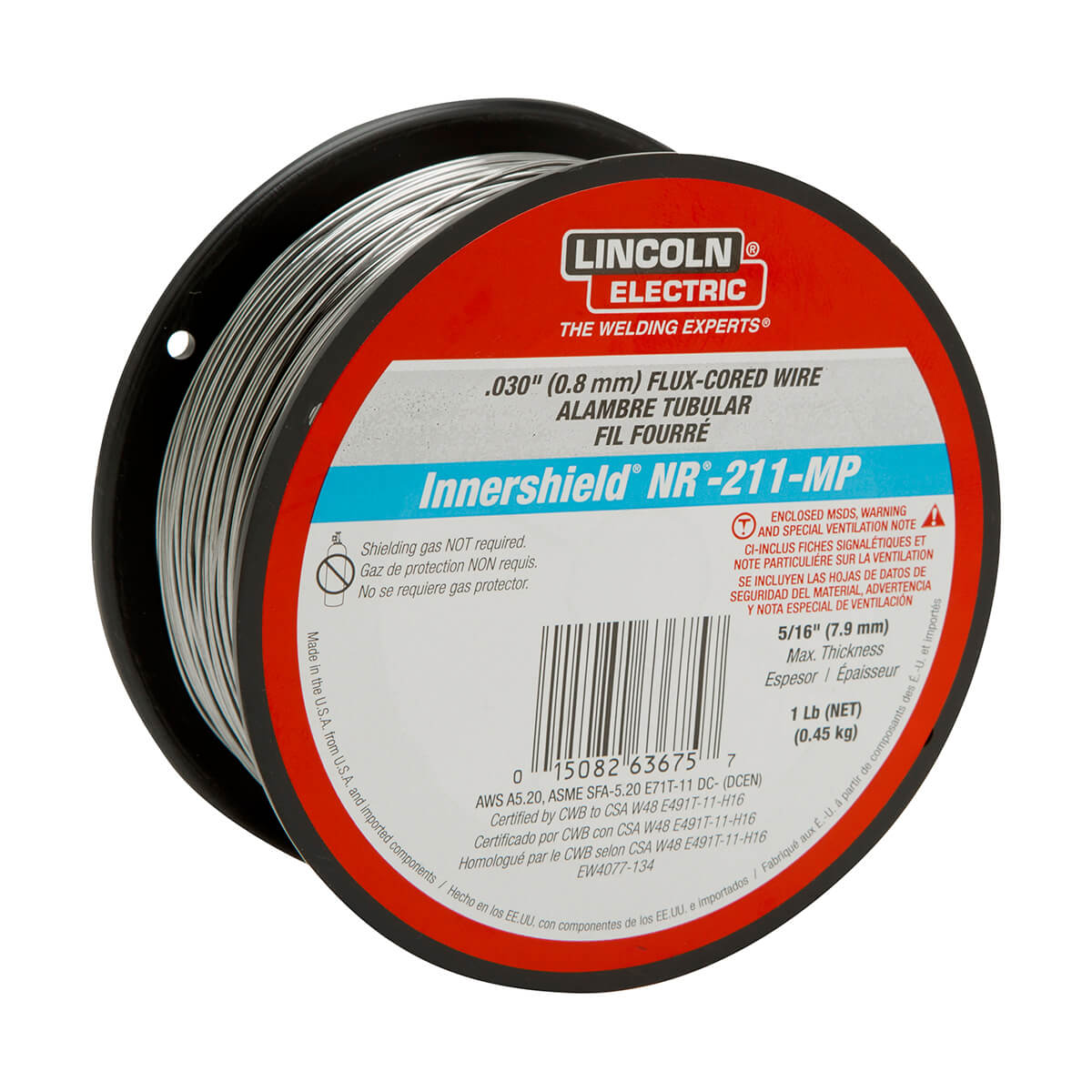 LINCOLN ELECTRIC ED031448 MIG Welding Wire NR-211-MP - 1 lb Spool