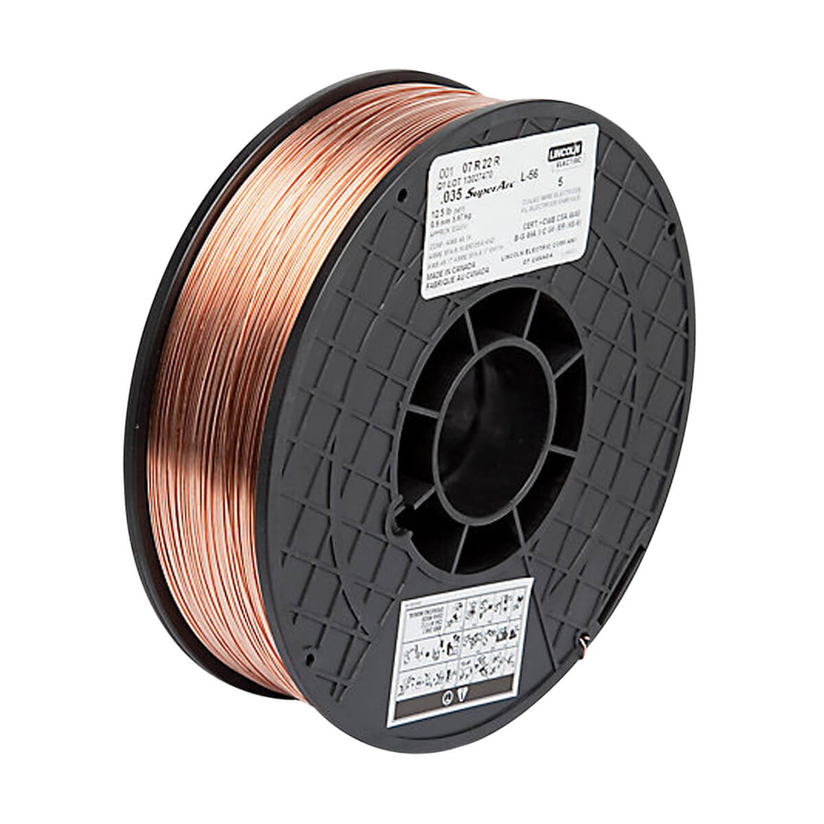 """Lincoln .035"""" SuperArc L-56 MIG Wire 12.5 lb Spool"""