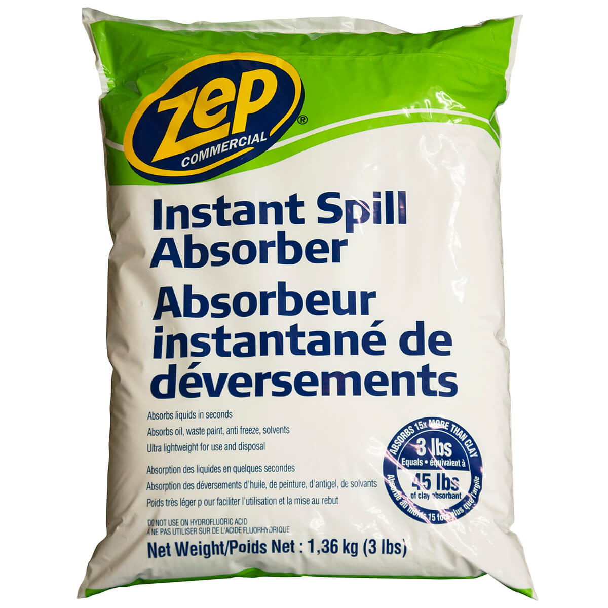 Zep Commercial Instant Spill Absorber 1.3 kg  - CAABS3