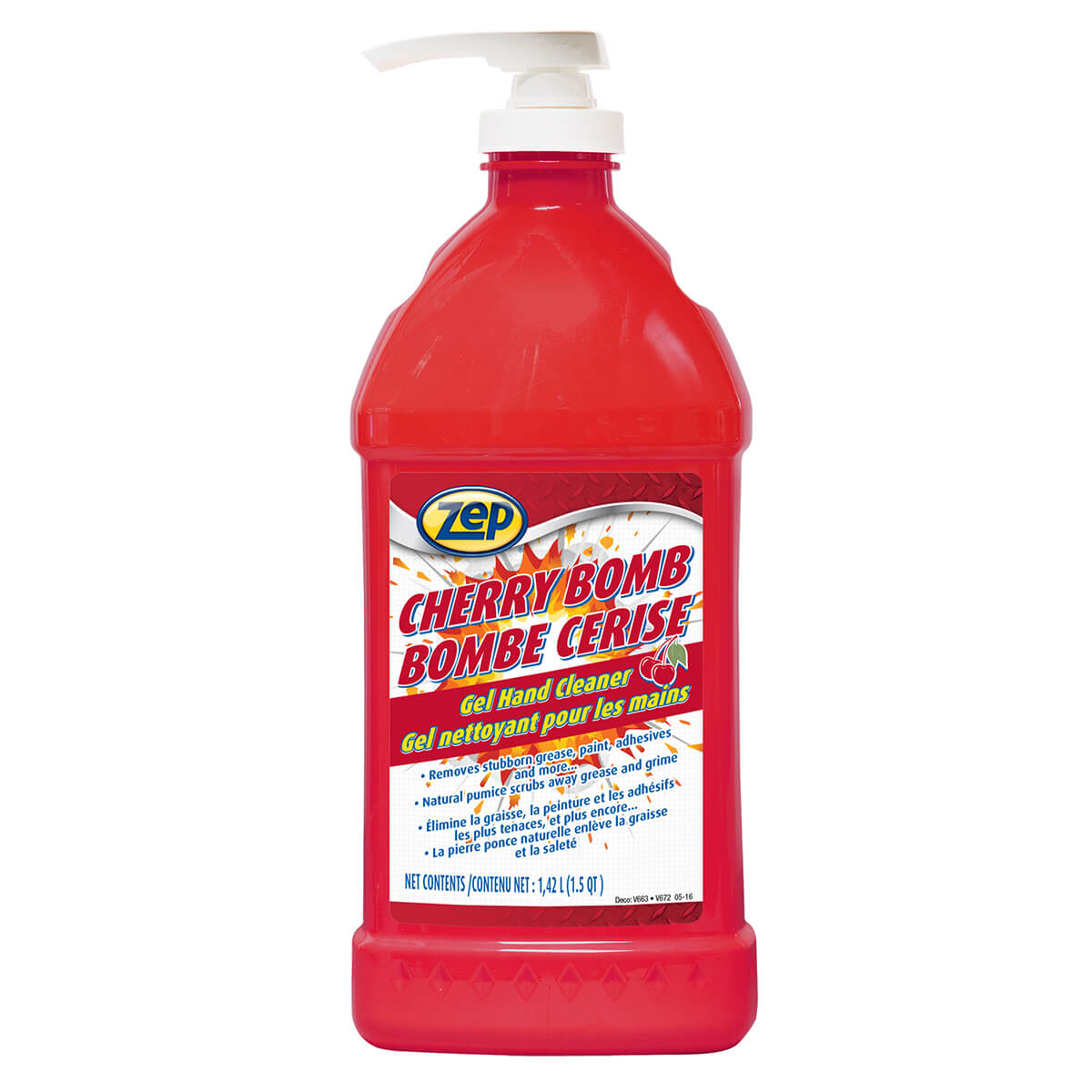 Zep Commercial Cherry Bomb Gel Hand Cleaner 1.42 L  - CACBHC48