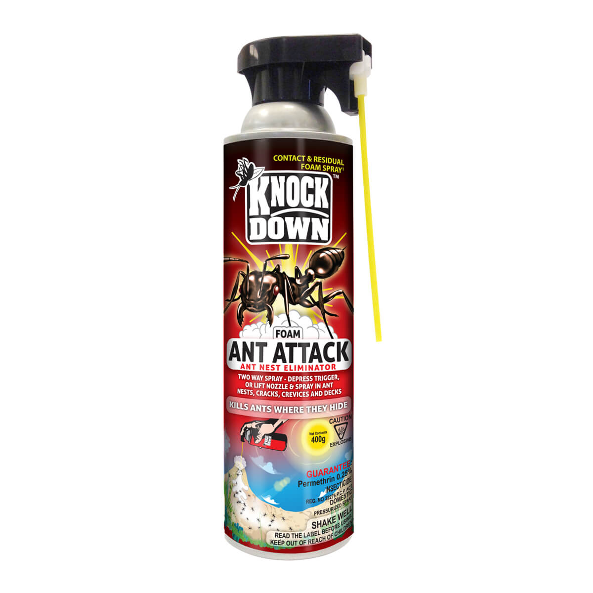 Knock Down Ant Attack - Ant nest eliminator foam 400 g