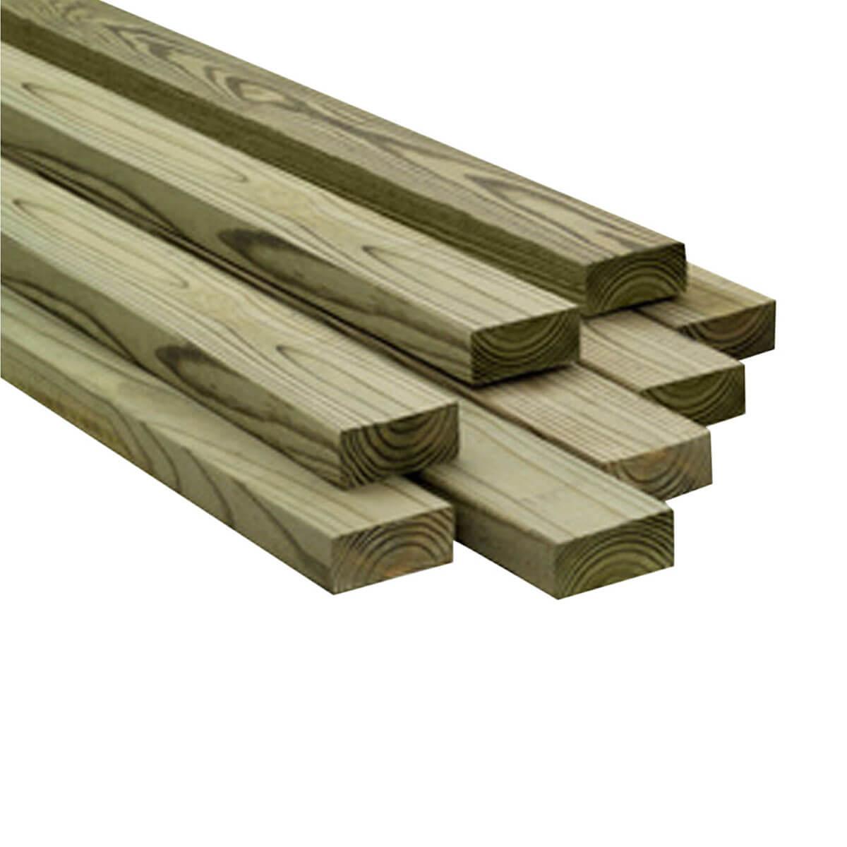 ACQ Treated Lumber - 1 x 4 x 8'
