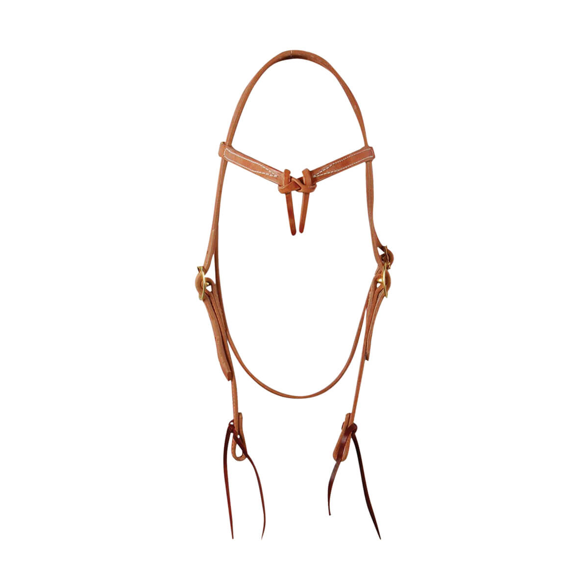 Futurity Headstall with Ties - Harness Leather