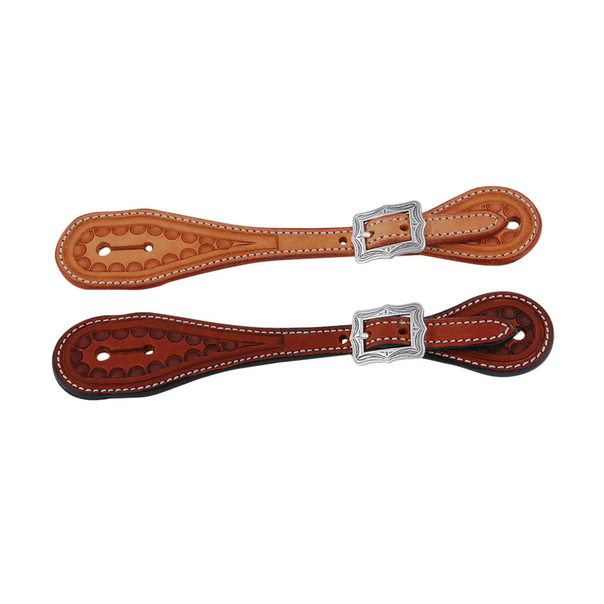 Straight Spur Strap with Border
