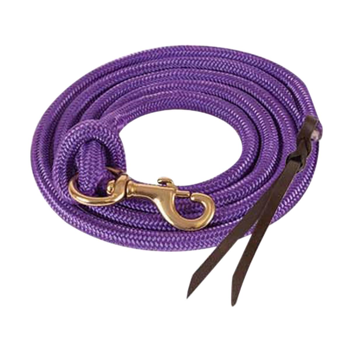 Mustang Cowboy Poly Lead Rope  - Purple - 22