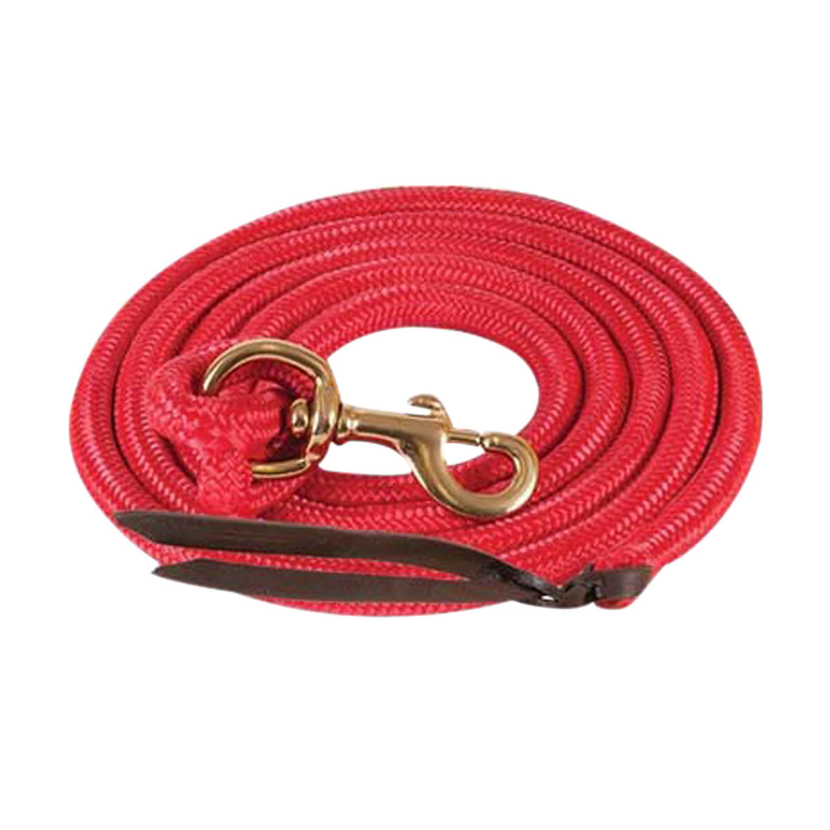 Mustang Cowboy Poly Lead Rope  - Red - 01
