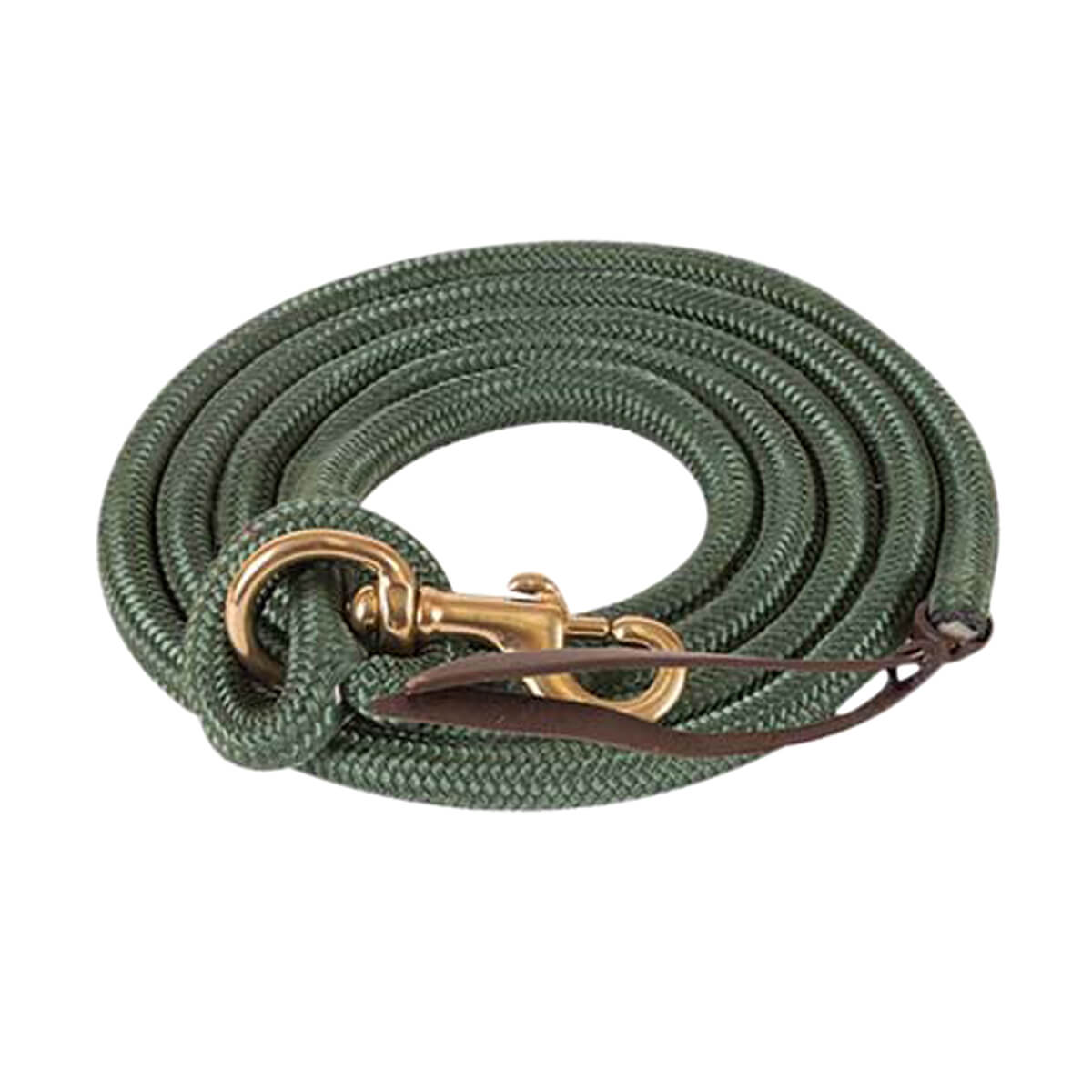 Mustang Cowboy Poly Lead Rope  - Green - 12