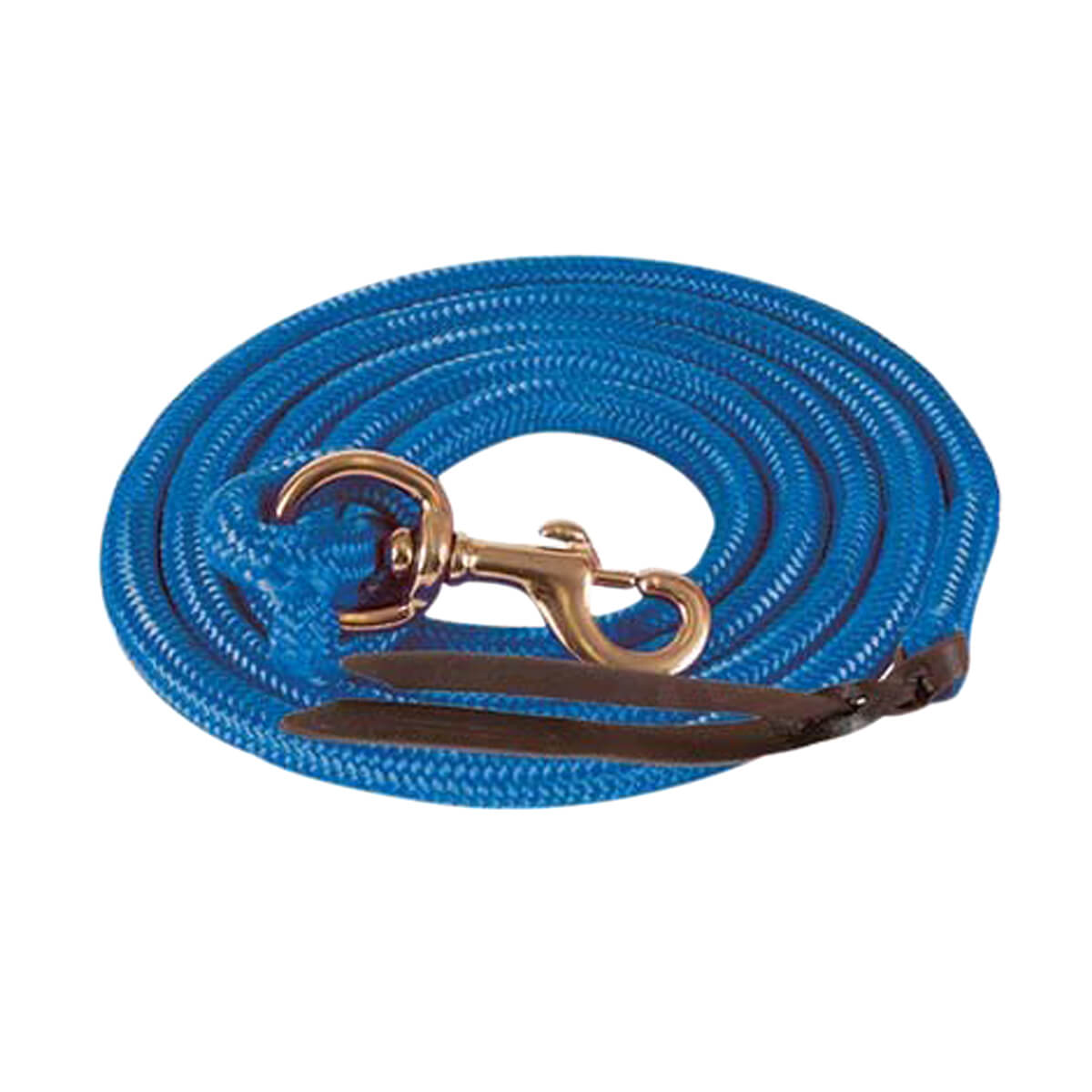 Mustang Cowboy Poly Lead Rope  - Blue - 40