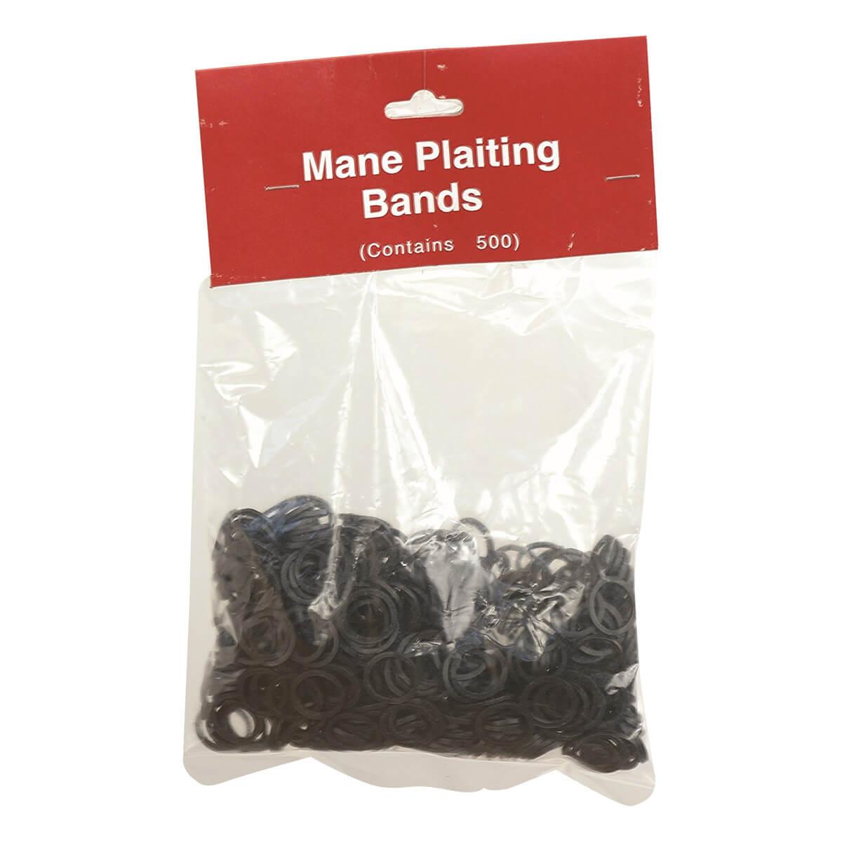 Mane Braiding Elastics - Black
